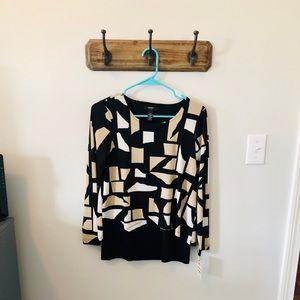 Alfani block blouse